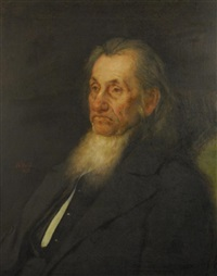 portrait of a bearded man by william morris hunt