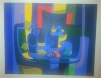 bouteille bleue by marcel mouly