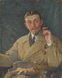 portrait de l'artiste roger curel sylvestre by william chadwick
