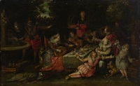 scène de banquet by david vinckboons