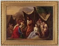 der haushalter josefs von ägypten findet bei benjamin den becher josefs (buch genesis 44.3 - 13) by josef arnold