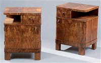 paire de table de chevets (pair) by jindrich halabala