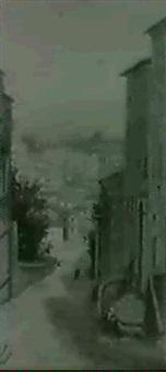 a street scene by r. ciesuta