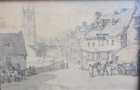 stamford, lincolnshire by thomas rowlandson