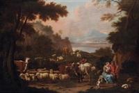 paysans avec leurs brebis et leurs vaches by david teniers the elder