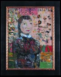 portret kobiety na różowym tle by artur nacht-samborski