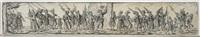 marschierende soldaten, im zentrum ein standartenträger (after jost amman) by johann theodor de bry