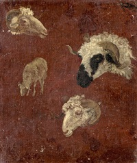 têtes de béliers by jacques-laurent agasse