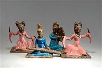 vier weibliche figuren by zaccagnini