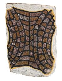 pukumani ceremony-crocodile skin by mungatopi alie miller