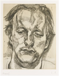 head of a man (h. 29) by lucian freud