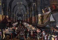 le festin de balthazar by louis de caullery