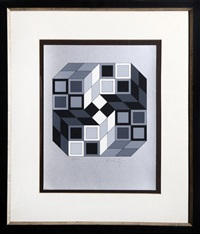 composition silver by victor vasarely