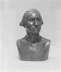 bust of george washington, after jean antone houdon by wilson macdonald