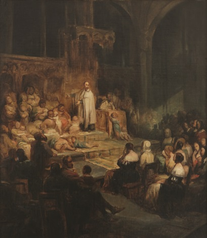 saint vincent de paul devant un auditoire by nicaise de keyser