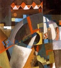 cubo-futuristic abstract composition by david efimovich zagoskin
