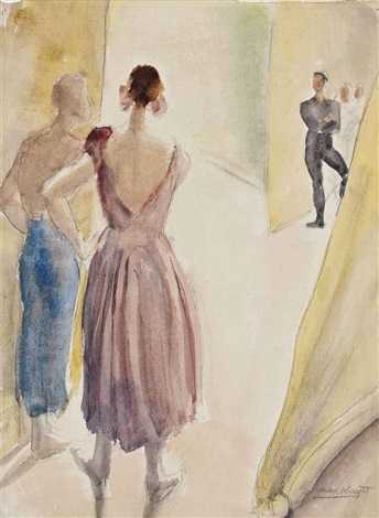 diaghilev ballet backstage by dame laura knight