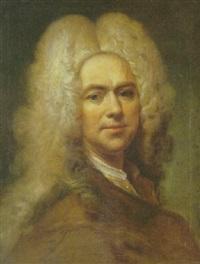portrait d'homme en buste à la veste marron by joseph vivien