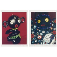untitled (dolls)(diptych) by carrie mae weems and jeffrey hoone