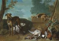 retour de chasse aux lièvres et au gibier by jean-baptiste oudry