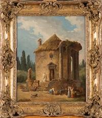 ruines d'une église by hubert robert