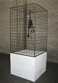 caged tool no. 2 (stone saw) by monica bonvicini
