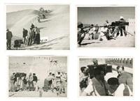 quatre scènes de tournage de courrier sud (de pierre billon) mogador (essaouira), maroc (4 works) by limot (walter lichtenstein)