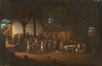a barn interior with peasant festivities by egbert van heemskerck the elder