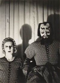 self-portrait with roger roussot in barbe-bleue by claude cahun