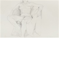 untitled (nude) by philip pearlstein