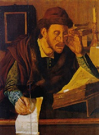 a scholar in his study by jan wouters