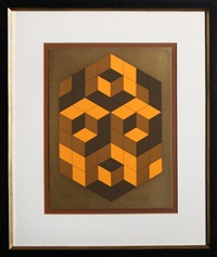 composition gold by victor vasarely