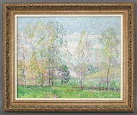 springtime in the countryside by karl albert buehr