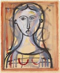portrait of a young woman by rené portocarrero