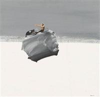 ohne titel (mann auf einem felsen) by pyotr belenok