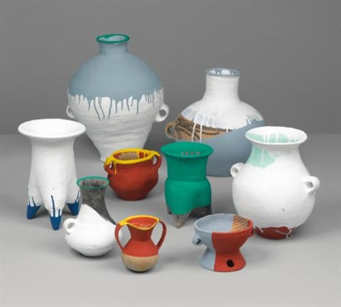 coloured vases in 9 parts by ai weiwei