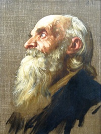 old man (head study) by alphonse legros