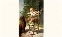 le chien et le jeune enfant by francois maurice reynaud