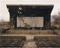 bullet-scarred outdoor cinema at the palace of culture in the karte char district of kabul by simon norfolk