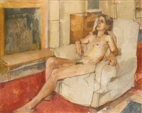seated nude by william coldstream