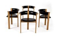 suite de quatre petits fauteuils (set of 4) by rud thygesen and johnny sorensen