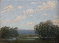 summer landscape by willard e. allen