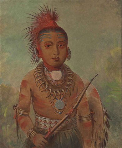 commanding general a boy wa ta we buck a na by george catlin