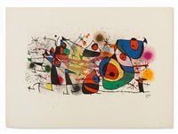 color lithograph by joan miró