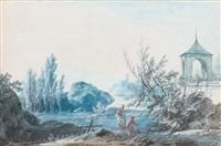 paysage au kiosque by alexandre jean noel