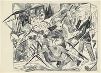 martyrium, from: hölle by max beckmann