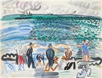 promenade au bord de la mer by raoul dufy