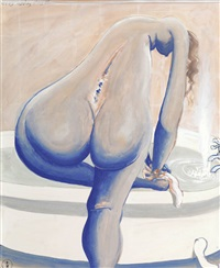 nude in bath by brett whiteley
