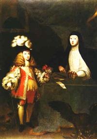 retrato de carlos ii niño con su madre la reina mariana de austria by sebastian de herrera barnuevo