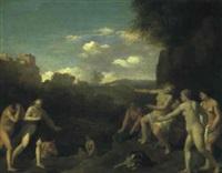 diana med sine nymfer by toussaint gelton
